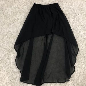 Black high low skirt with lining